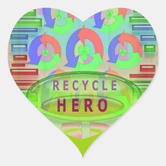 RECYCLE HERO AWARD - Encourage Now Heart Sticker