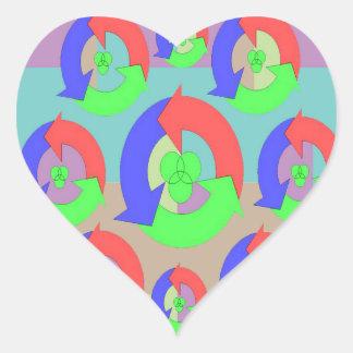 RECYCLE Hero Award - Green Theme Heart Sticker