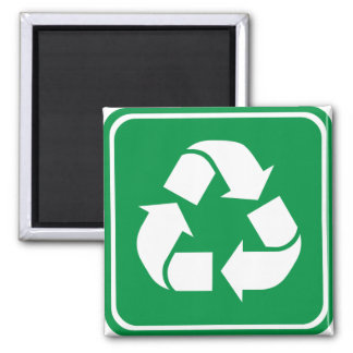Recycle Highway Sign Refrigerator Magnet