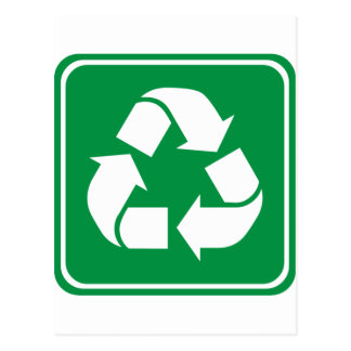 Recycle Highway Sign Postcards