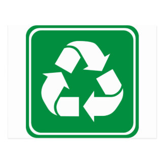 Recycle Highway Sign Postcard