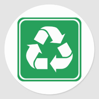 Recycle Highway Sign Round Sticker