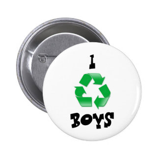 recycle, I, BOYS 6 Cm Round Badge
