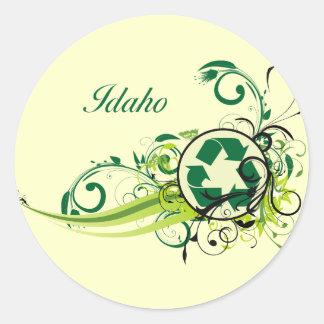 Recycle Idaho Classic Round Sticker