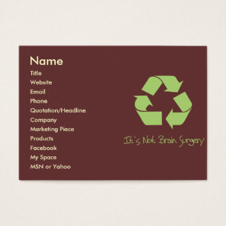 Recycle it's Easy Contact or Business Card