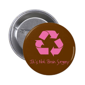 Recycle its Easy Pink 6 Cm Round Badge