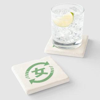 Recycle Japanese Girls   Kanji Nihongo Sign Stone Coaster