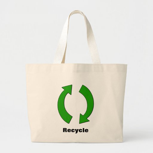 Recycle Jumbo Tote Canvas Bag
