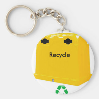 Recycle key ring basic round button key ring