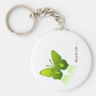 Recycle Life! Basic Round Button Key Ring