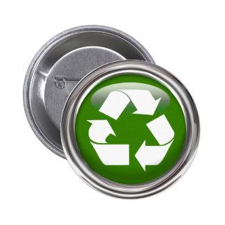 Recycle Logo 6 Cm Round Badge