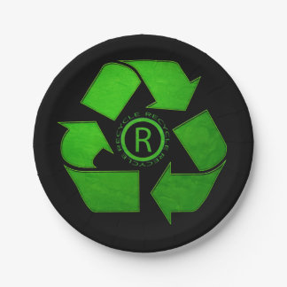 Recycle Logo 7 Inch Paper Plate
