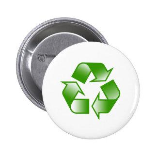 Recycle Logo Pinback Button