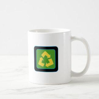 recycle logo basic white mug
