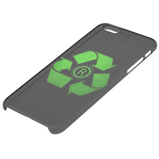 Recycle Logo Clear iPhone 6 Plus Case