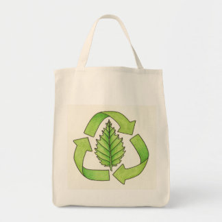 recycle logo color 600 dpi0001 grocery tote bag