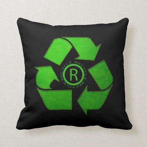 Recycle Logo Throw Pillow