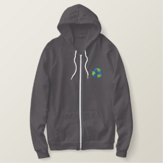 Recycle Logo Embroidered Hoody