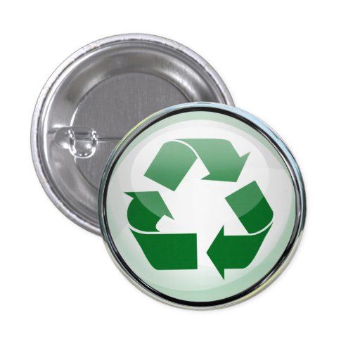 Recycle Logo in Glass & Chrome Pin
