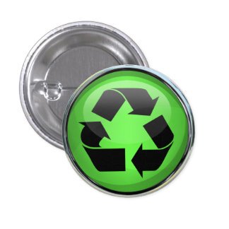 Recycle Logo in Glass Chrome Pins