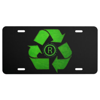 Recycle Logo License Plate
