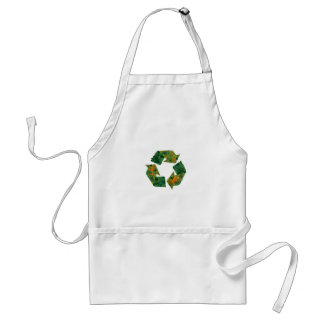 Recycle logo made of leaves. apron