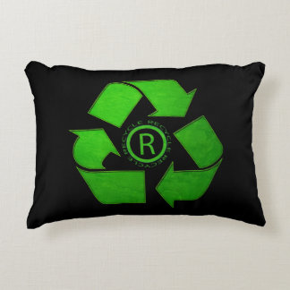 Recycle Logo Accent Pillow
