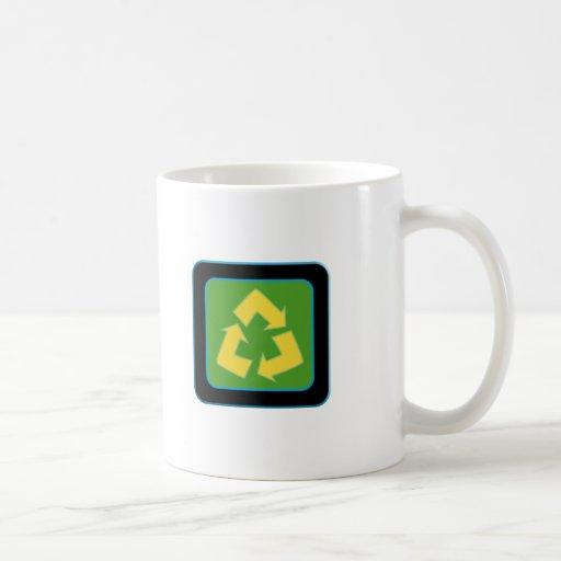 recycle logo mugs
