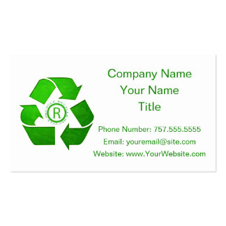 Recycle Logo Pack Of Standard Business Cards