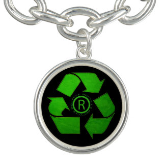Recycle Logo Charm Bracelet