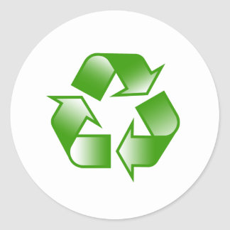Recycle Logo Round Sticker