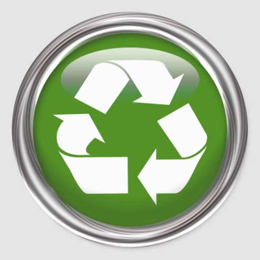 Recycle Logo (set of 6/20) Round Stickers