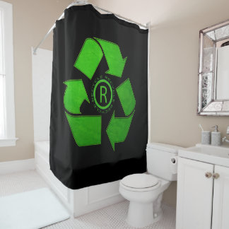 Recycle Logo Shower Curtain