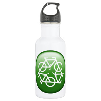 Recycle Logo w/ Bicycles 532 Ml Water Bottle