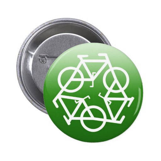 Recycle Logo w/ Bicycles Pins