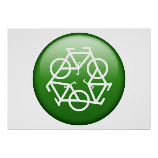 Recycle Logo w/ Bicycles Posters