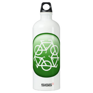 Recycle Logo w/ Bicycles SIGG Traveller 1.0L Water Bottle