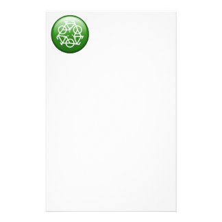 Recycle Logo w/ Bicycles Personalized Stationery