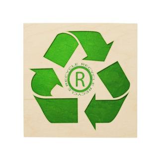 Recycle Logo Wood Prints