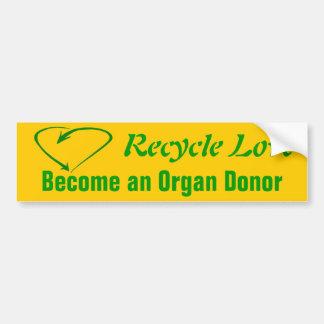 Recycle Love Bumper Sticker