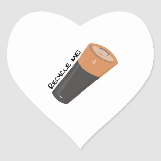 Recycle Me Heart Stickers
