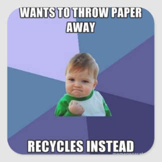 Recycle Meme Sticker