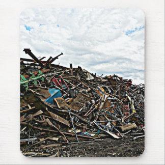 Recycle metal scrap at junkyard mouse pad