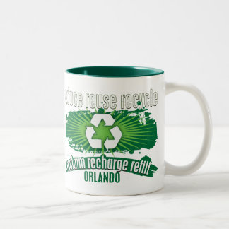 Recycle Orlando Two-Tone Coffee Mug