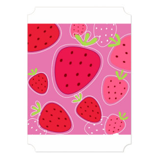 Recycle paper with Strawberries Card