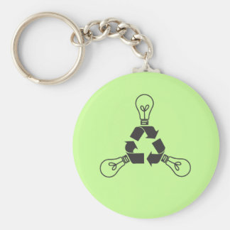 Recycle Power Basic Round Button Key Ring