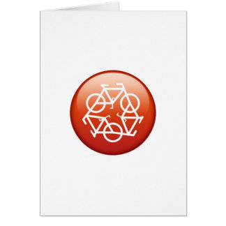 recycle-red greeting card
