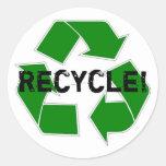 Recycle! Round Sticker