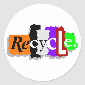 Recycle Round Sticker