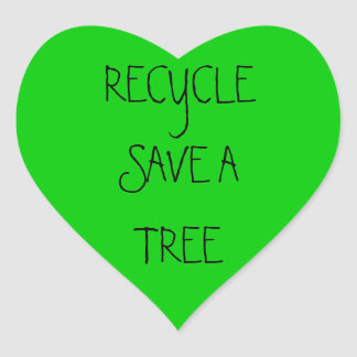 RECYCLE SAVE A TREE STICKERS
